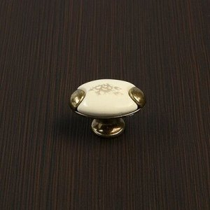 Ручка-кнопка с фарфором KF05-09