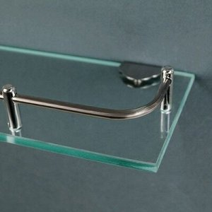 Полка для ванной комнаты 49,5?11?3,5 см, металл, стекло