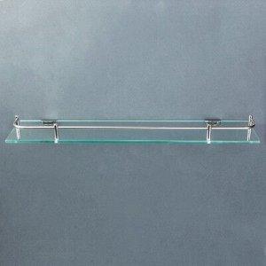 Полка для ванной комнаты 40?11.5?4 см, металл, стекло