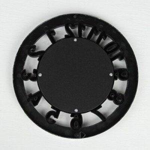 Зеркало настенное «Часы», d зеркальной поверхности 12 см, цвет «состаренное серебро»