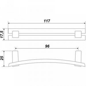 Ручка-скоба BOYARD RS408BAB.4, 96 мм, цвет античная латунь