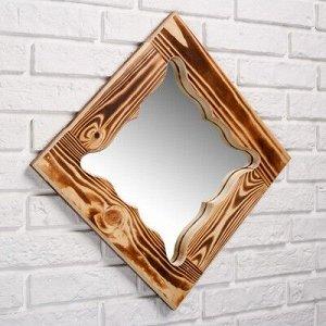 """Зеркало резное """"Бабочка"""", сосна, обожжённое, 40?40 см"""