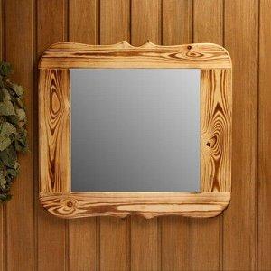 Зеркало резное, обожжённое, 50?50 см
