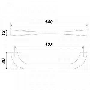 Ручка-скоба BOYARD RS442BAZ.4, 128 мм, цвет серебро