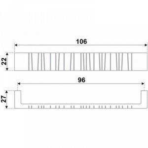 Ручка-скоба BOYARD RS181SN.4, 96 мм, цвет матовый никель