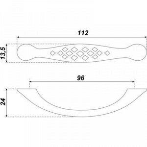Ручка-скоба BOYARD RS419EAB.3, 96 мм, цвет античная латунь