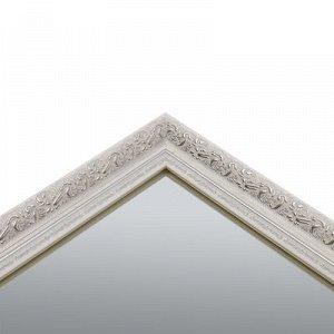 Зеркало настенное «Верона», белое, 60х120 см, рама пластик, 60 мм