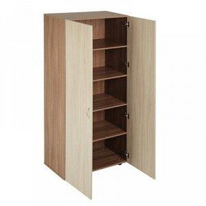Шкаф 2-х дверный 800х420х1900 Ясень шимо светлый/темный
