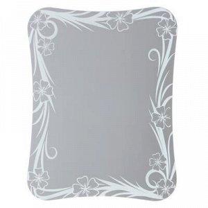 Зеркало, настенное, с пескоструйной графикой, 75х58 см