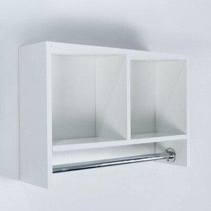 Шкаф подвесной со штангой для полотенец, белый, 60 х 15,4 х 40 см