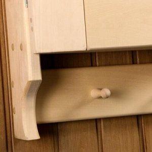 Шкаф навесной, 5 крючков, 90 ? 66 ? 13 см