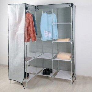 Шкаф для одежды уголовой «Рид», 88?45?173 см, цвет серый