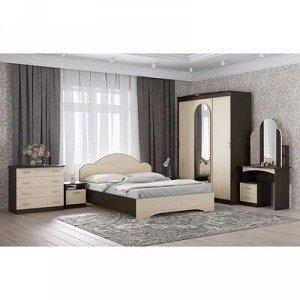 Кровать Диана с основанием, 900х1500х2040, Венге/Дуб молочный