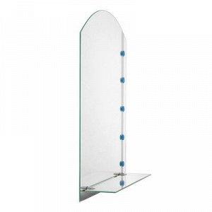 Зеркало «Линия», с пескоструйной графикой и фьюзингом, настенное, с полочкой, 45?61 см