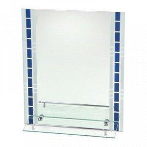 """Зеркало в ванную комнату 60?45 см """"Ассоona А615"""", 1 полка"""