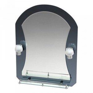 Зеркало в ванную комнату с подсветкой, двухслойное 80 ? 60 см Ассоona A610, 1 полка