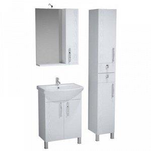 Зеркало-65 бел, подсв.,шкаф правый, Кристи