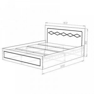 Кровать Барселона 1600, 1672х900х2032, Белый/Белый глянец