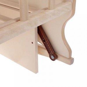 Кровать детская Морозко колесо-качалка с маятником (сл.кость) (1200х600 )