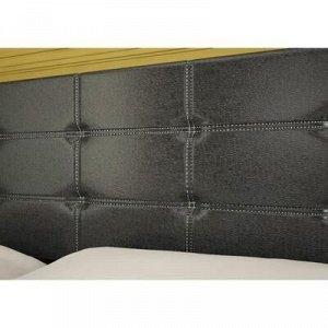 Кровать 1600 Наоми с мягким изголовьем, 1642х950х2032, Эко кожа/Венге