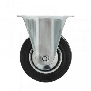 Колесо для тележек фиксированное, d=100, резина