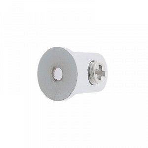 Полкодержатель PL010, H=8 - 12 мм, цвет хром,в комплекте 4 шт.