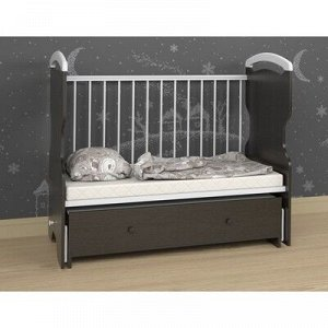 Кроватка детская Elsa, Венге/ Белый
