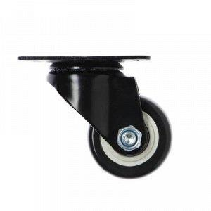 Колесо мебельное, d=65 мм, без тормоза, черное