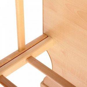 Детская кроватка «Морозко» на колёсах или качалке, цвет клён/берёза