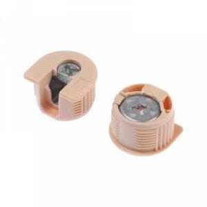 Полкодержатель-стяжка D20 мм, +шток 11 мм, бежевый, 4 шт.