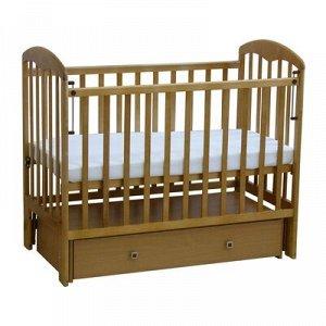 Детская кроватка «Фея 328» на маятнике, с ящиком, цвет белый