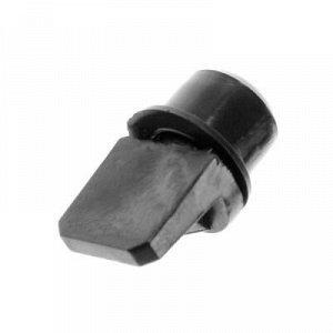 Полкодержатель лопат., d=7 мм, пласт.с втул., черный, 16 шт.
