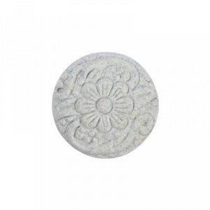 """Ручка керамическая для мебели BLUMEN HAUS """"Каменный цветок"""", белый матовый"""