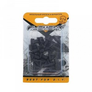 Полкодержатель лопат. d=6 мм, пласт. черный, 16 шт.