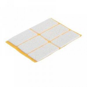 Подпятник фетровый самоклеящийся, 25х50 белый, 6 шт.
