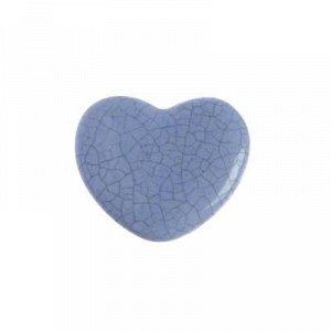 """Ручка керамическая для мебели BLUMEN HAUS """"Сердце"""", серо-голубой"""