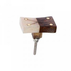 """Ручка для мебели BLUMEN HAUS """"Домино"""", коричневый, бежевый"""