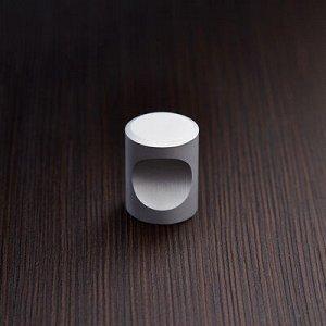 Ручка кнопка РК102, цвет матовый хром