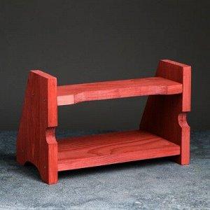 """Полка деревянная """"Подиум"""", цвет красный, 21x 32x 19 см"""