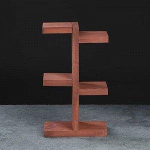 """Полка деревянная """"Ячейки"""", цвет коричневый, 35 х 20 х 10 см"""