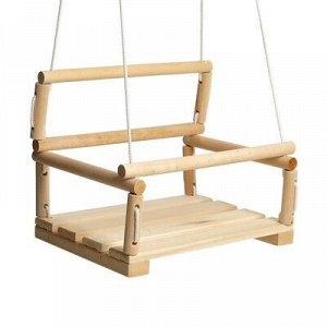 Качели детские подвесные, деревянные, сиденье 28?28см