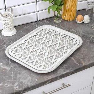 Поднос с вкладышем для сушки посуды Альт-Пласт «Колос», 45,5?36 см, цвет МИКС