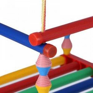 Качели детские подвесные, пластмассовые, сиденье 33?27см, с металлическим кольцом