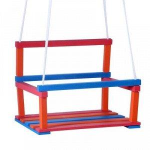 Качели детские подвесные, деревянные, сиденье 28?34,5см