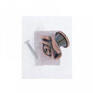 Ручка кнопка Rose 01, цвет медь