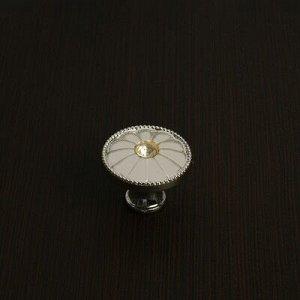 Ручка кнопка РК116GP, цвет хром
