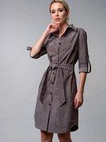 Платье-рубашка цвет хакки (П-60-13)