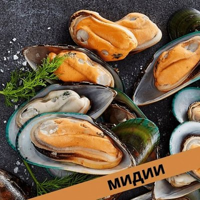 Кальмар 129 рублей за 1 кг… Мидии! Палтус! Креветка! — Мидии Чили и Новая Зеландия! — Свежие и замороженные