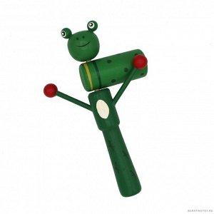Трещётка -зелёная лягушка  18*12 см