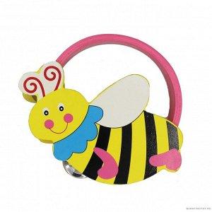 Бубен фигурный   15*15*4 см Пчелка